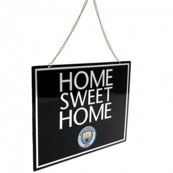 Manchester City kovová značka Home Sweet Home Sign