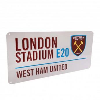 West Ham United kovová značka Street Sign