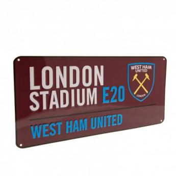 West Ham United kovová značka Street Sign CL