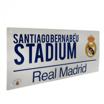 Real Madrid kovová značka Street Sign