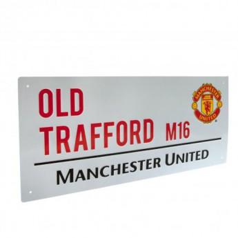 Manchester United kovová značka Street Sign