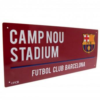 FC Barcelona kovová značka Street Sign CL
