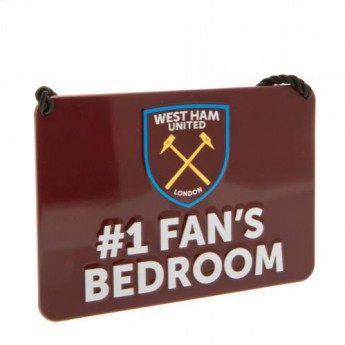 West Ham United značka do ložnice Bedroom Sign No1 Fan