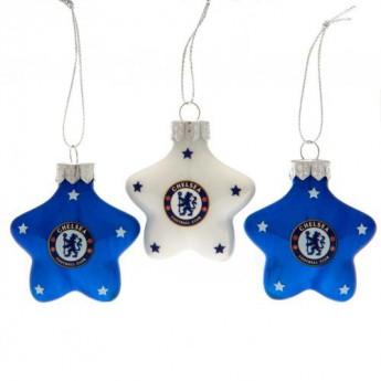 FC Chelsea vánoční ozdoby 3pk Star Baubles