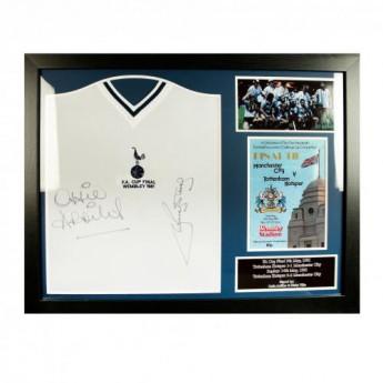 Tottenham Hotspur zarámovaný dres Ardiles & Villa Signed Shirt (Framed)