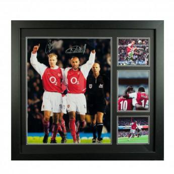 Legendy obrázek v rámečku FC Arsenal Bergkamp & Henry Signed Framed Print