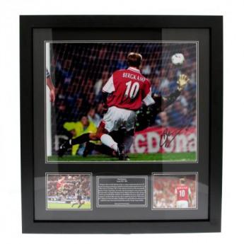 Legendy obrázek v rámečku FC Arsenal Bergkamp Signed Framed Print