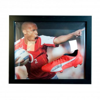 Legendy zarámované kopačky FC Arsenal Henry Signed Boot (Framed)
