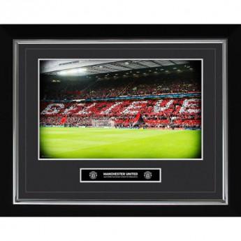 Manchester United obrázek v rámečku Historic Moments Picture Believe 16x20