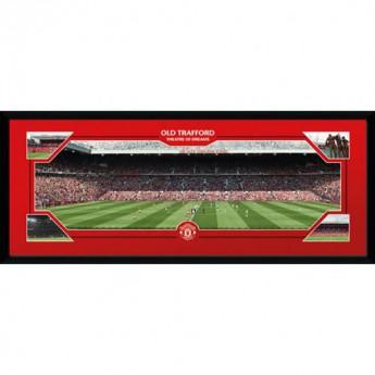 Manchester United obrázek v rámečku Old Trafford 30 x 12