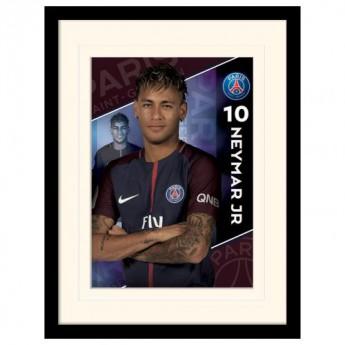 Paris Saint German obrázek v rámečku Neymar 16 x 12