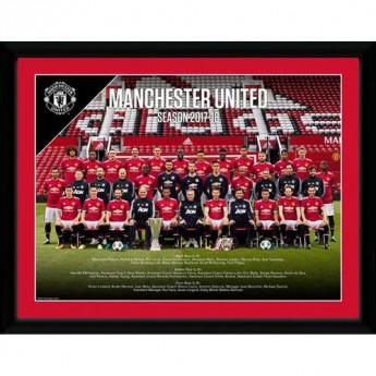 Manchester United obrázek v rámečku Squad 16 x 12