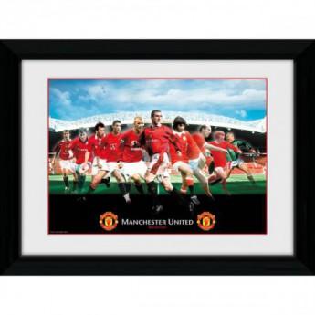 Manchester United obrázek v rámečku Legends 16 x 12