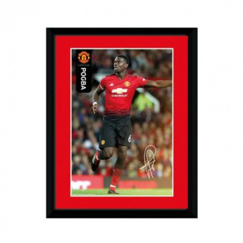 Manchester United obrázek v rámečku Pogba 8 x 6 two