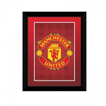 Manchester United obrázek v rámečku Crest 8 x 6