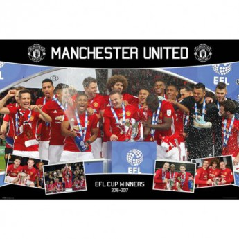 Manchester United plakát Poster EFL Cup Winners 82