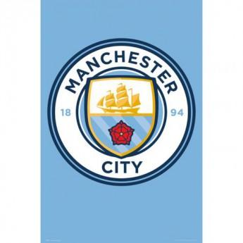 Manchester City plakát Crest 3