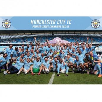Manchester City plakát Poster Champions 1