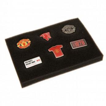 Manchester United set odznáčků 6 Piece Badge Set