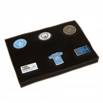 Manchester City set odznáčků 6 Piece Badge Set