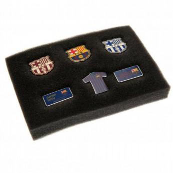 FC Barcelona set odznáčků 6 Piece Badge Set
