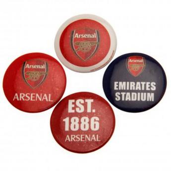 FC Arsenal set odznáčků Button Badge Set