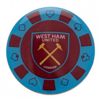 West Ham United odznak Poker Chip Badge