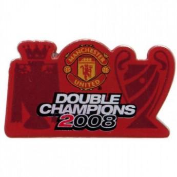 Manchester United odznak Double Champions Badge