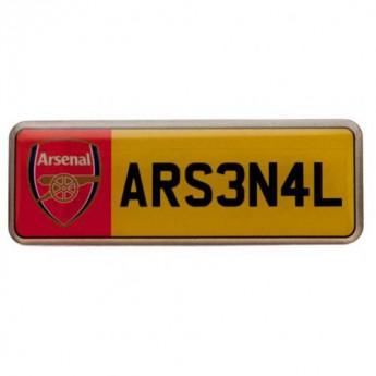 FC Arsenal odznak Number Plate Badge