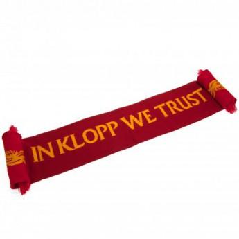 FC Liverpool zimní šála red Klopp