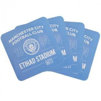 Manchester City set podtácků 4pk Coaster Set