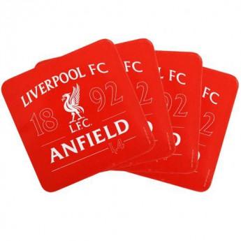 FC Liverpool set podtácků 4pk Coaster Set