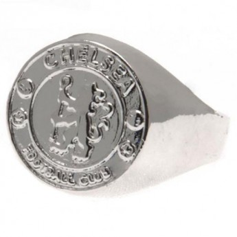 FC Chelsea prsten Silver Plated Crest Ring Small
