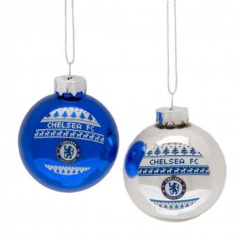 FC Chelsea vánoční ozdoby 2pk Nordic Baubles