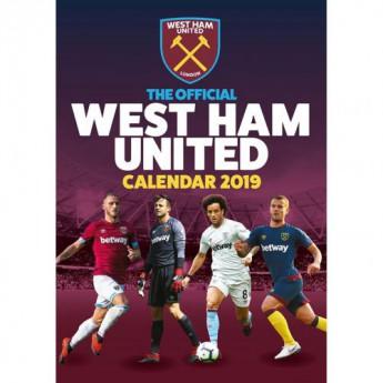 West Ham United kalendář 2019 official A3
