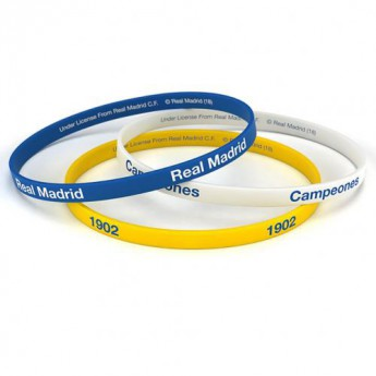 Real Madrid silikonový náramek 3pk Silicone Wristbands