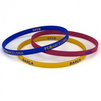 FC Barcelona silikonový náramek 3pk Silicone Wristbands