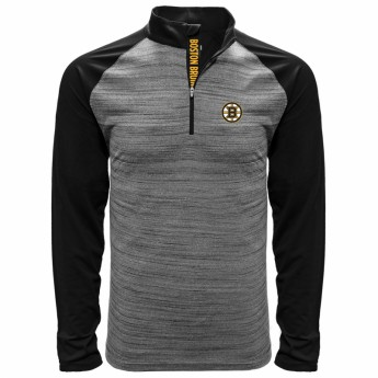Boston Bruins pánská mikina grey Vandal Quarter Zip Midlayer