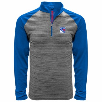 New York Rangers pánská mikina grey Vandal Quarter Zip Midlayer