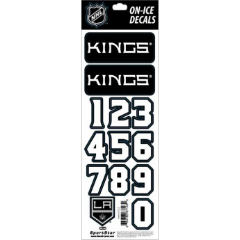 Los Angeles Kings samolepky na helmu Decals Black