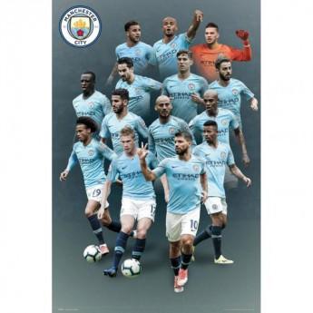 Manchester City plakát Players 37