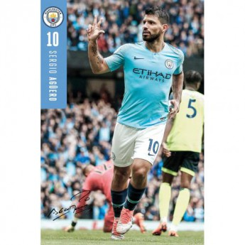 Manchester City plakát Aguero 35