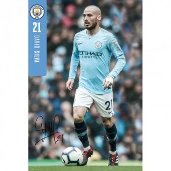 Manchester City plakát Silva 27