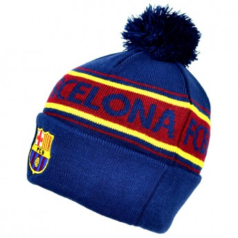 Barcelona zimní čepice text