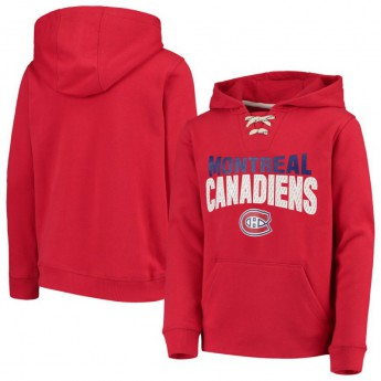 Montreal Canadiens dětská mikina s kapucí Off The Ice Lace-Up Pullover Hoodie
