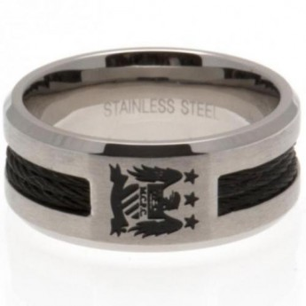 Manchester City prsten Black Inlay Ring Medium EC