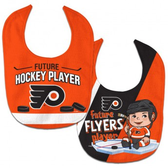 Philadelphia Flyers dětský bryndák WinCraft Future Hockey Player 2 Pack