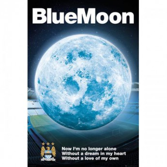 Manchester City plakát Blue Moon 26