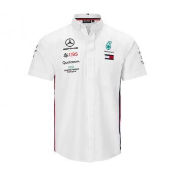 Mercedes AMG Petronas pánská košile white F1 Team 2019