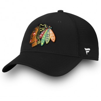 Chicago Blackhawks čepice baseballová kšiltovka black Elevated Core Trucker